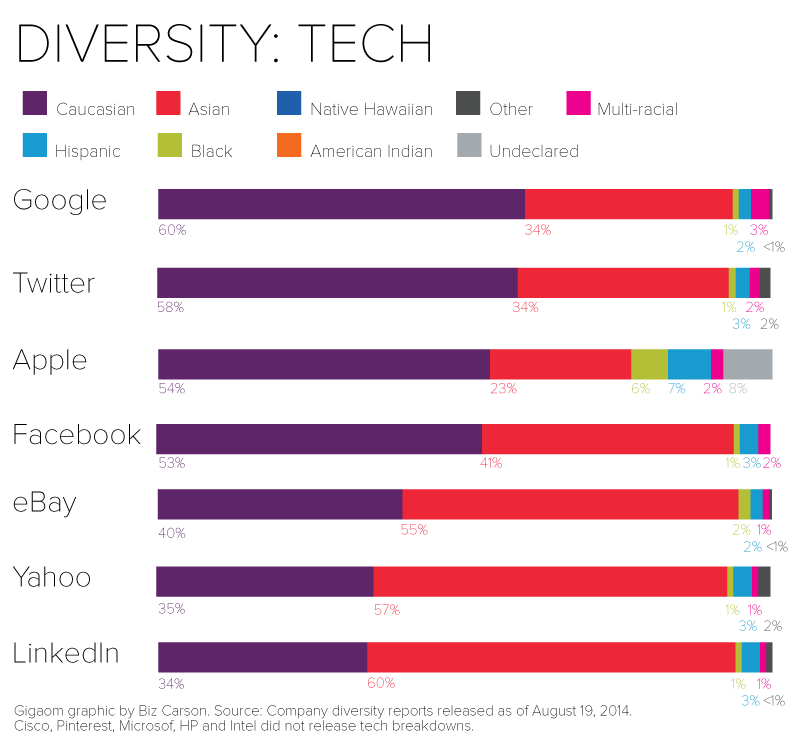 <a href='https://gigaom.com/2014/08/21/eight-charts-that-put-tech-companies-diversity-stats-into-perspective/'>Gigaom</a>